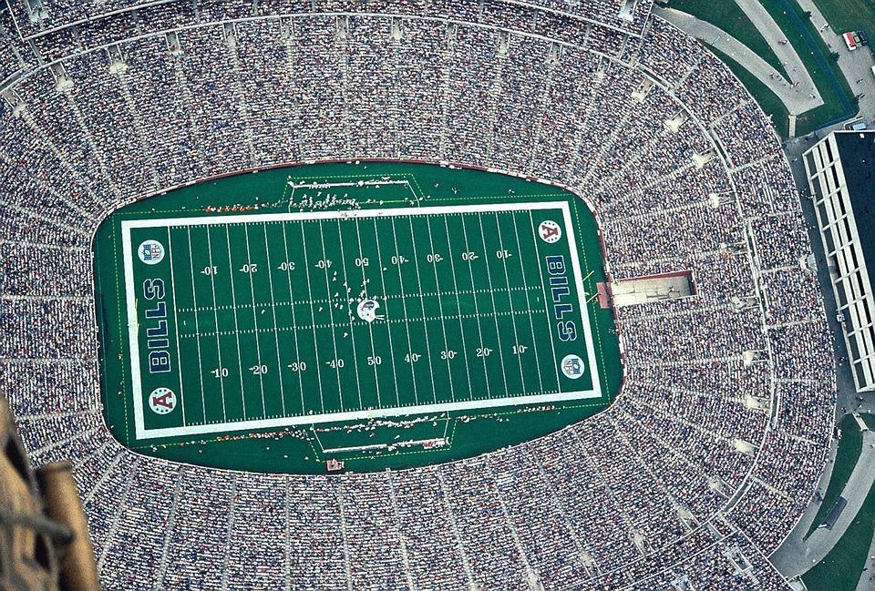 Football, Stadium, Hot Air, Aerial, Balloon Ride, Air
