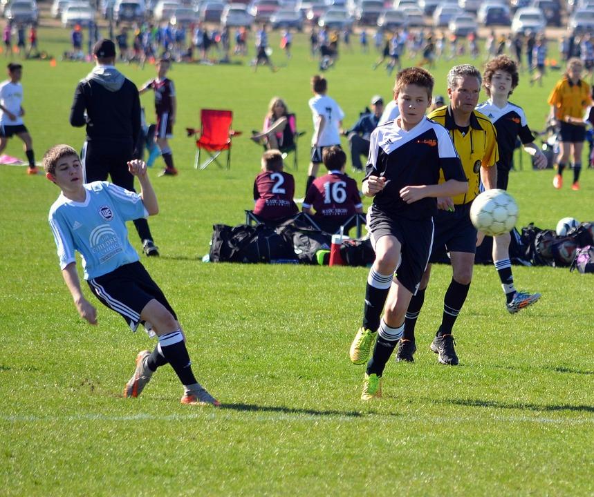 Soccer, Team, Football, Field, Ball, Player, Playing
