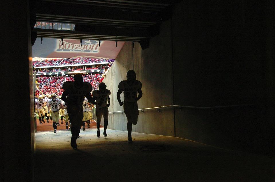 Football, Stadium, Tunnel, Architecture, Players