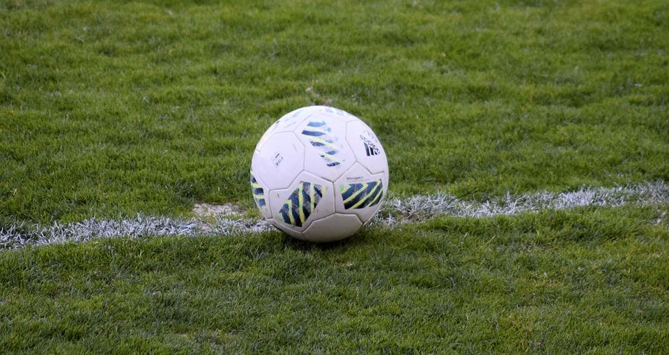 Free photo Football Soccer Field Grass Balloon Stadium Field Max Pixel