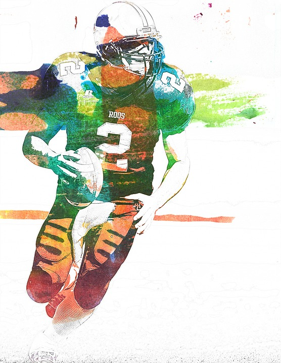 Football, American Football, Sport, Art, Abstract