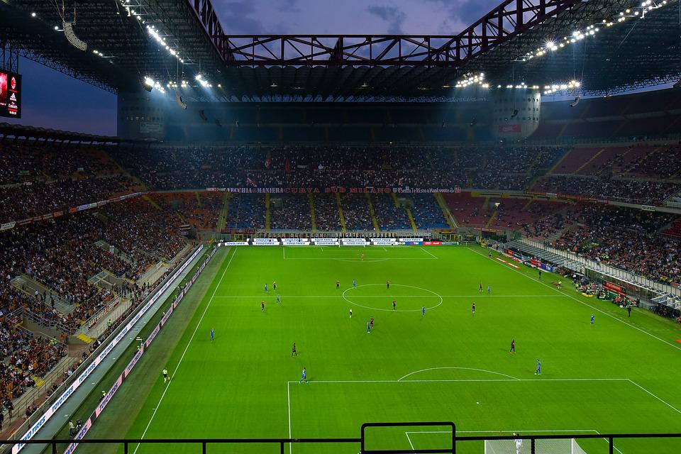 San Siro, Flood Light, Football Match, Football Stadium