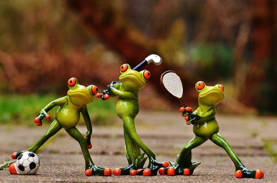 Frogs, Athletes, Football, Tennis, Golf, Funny, Cute