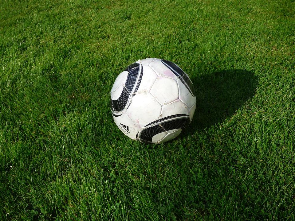 Football, Grass, White, Green
