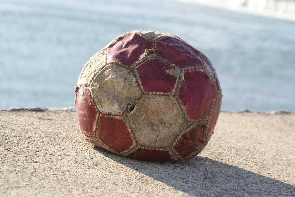 Football, Ball, Old, Leather, Worn