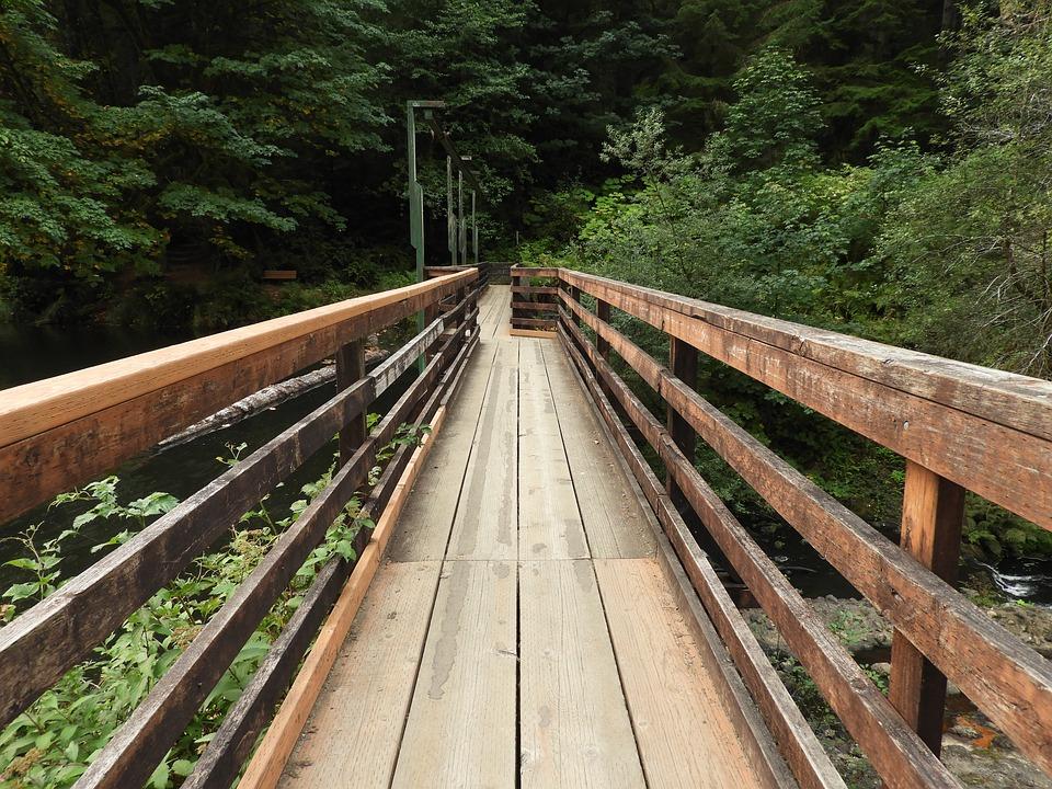 Bridge, Path, Wooden, Outdoor, Footbridge, Walkway