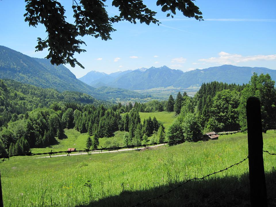 Foothills Of The Alps, Hiking, Mountains, Panorama