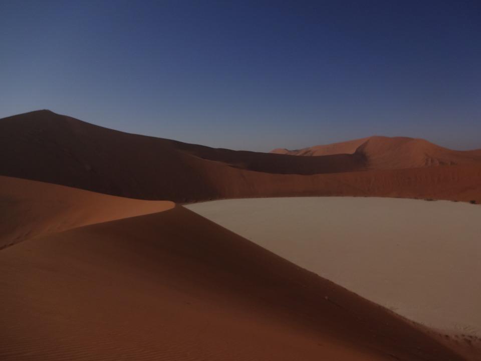 Desert, Dune, Landscape, Sand, Africa, Footprints, Dry