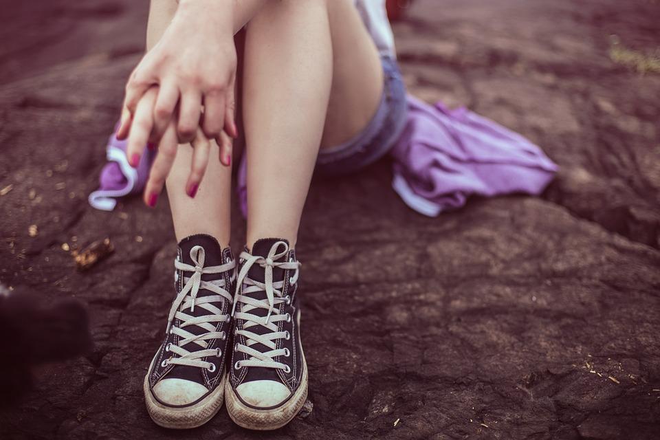 Legs, All Star Converse, Casual, Feet, Footwear, Girl