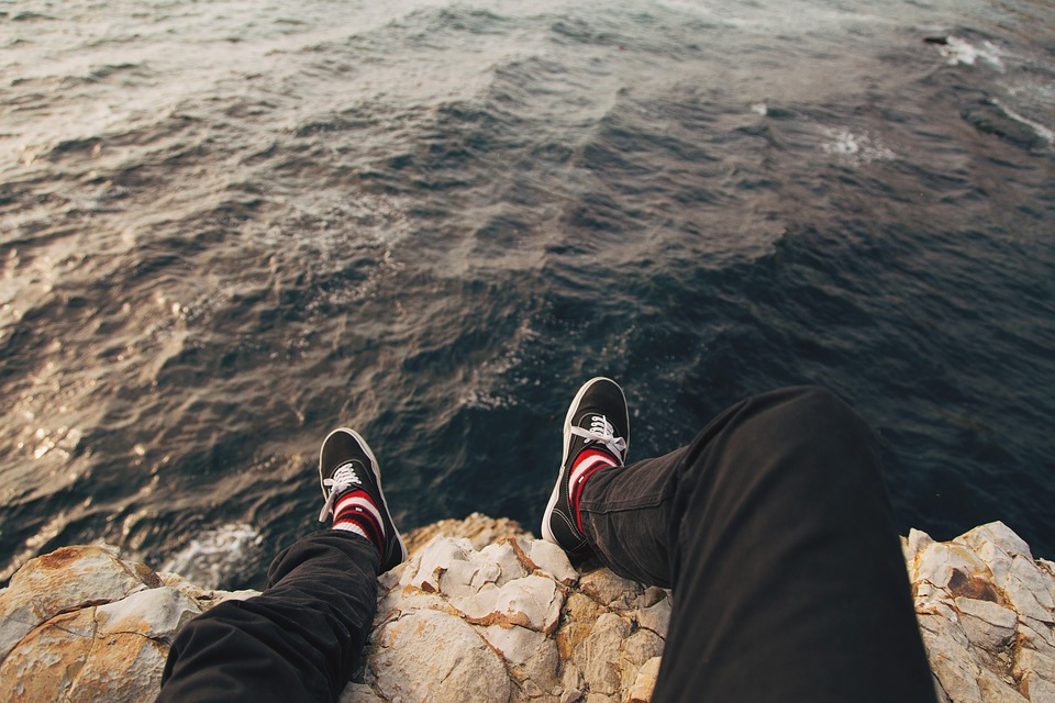 Coast, Feet, Footwear, Man, Ocean, Outdoors