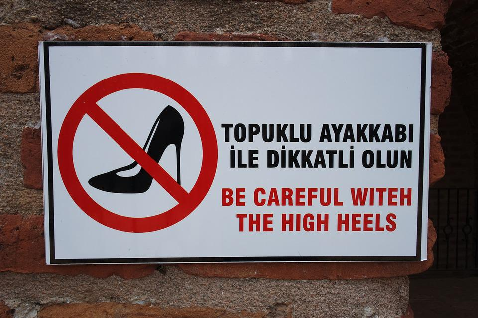 Sign, High Heel, Footwear, Stiletto, Attention