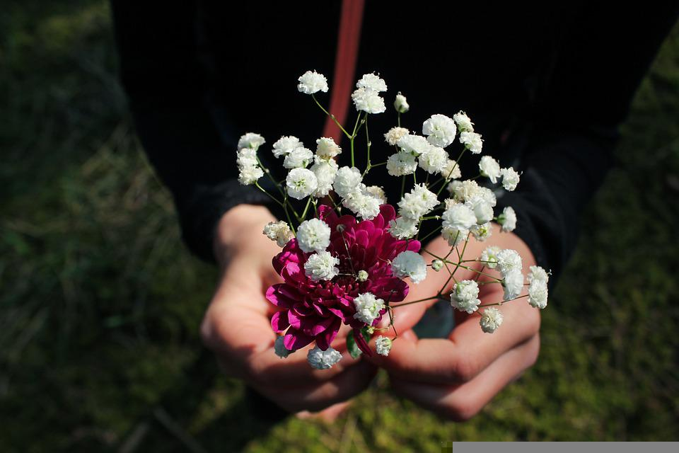 Flowers, Mothers Day, Present, For You, Child, Family