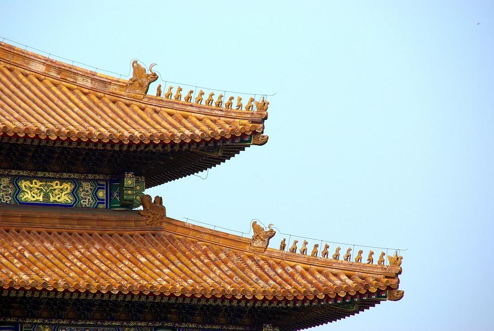 China, Pekin, Beijing, Forbidden City, Roofing, Emperor