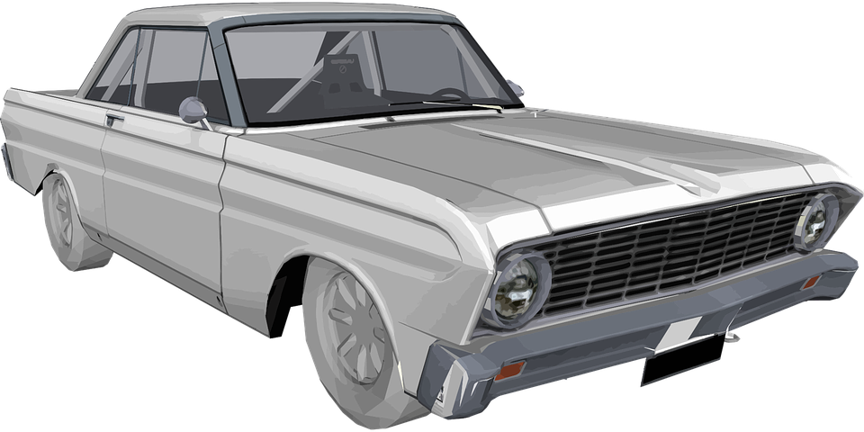 Automobile, Car, Classic, Drive, Ford Falcon, Polygonal