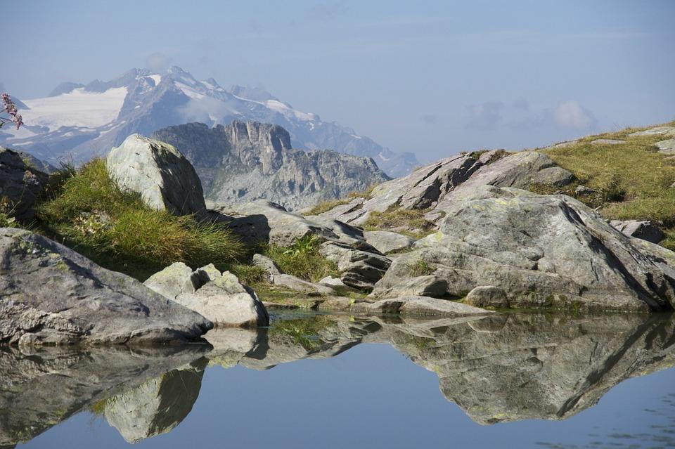 Bergsee, Rock, Mirroring, Foresight, Leglerhütte