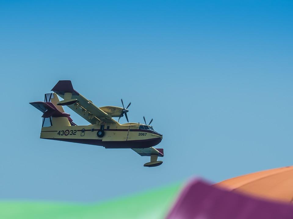 Air Festival, Flight, Aircraft, Smoke, Fire, Forest