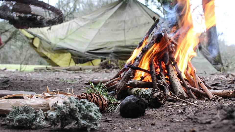 Fire Camping Camp Nature Campfire Forest Outdoor