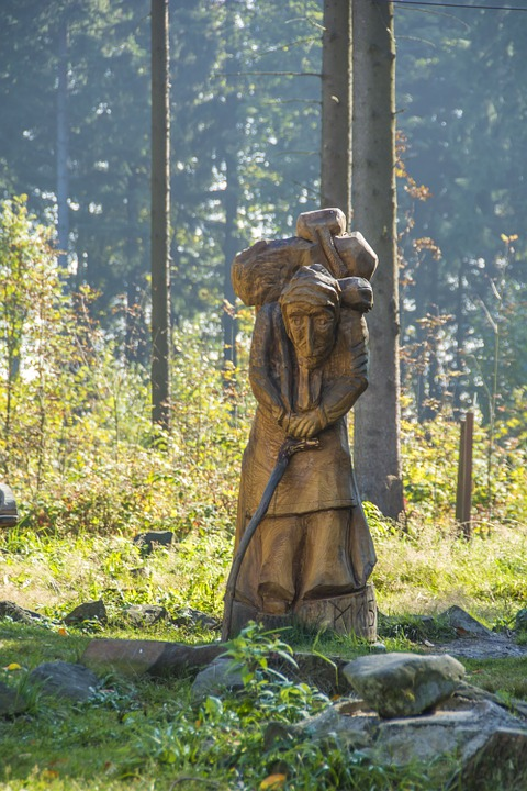 Figure, Ore Mountains, Scheibenberg, Folk, Wood, Forest