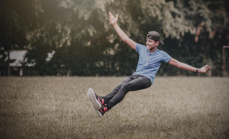Levitating, Fly, Flying, Nature, Forest, Human