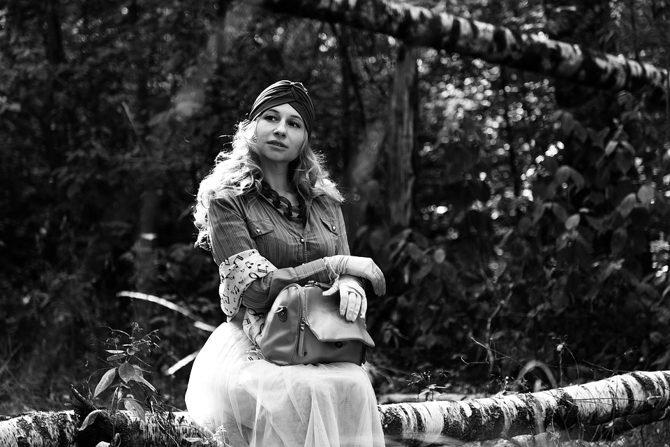 Turban, Retro, Vintage, Forest, Image, Photoshoot, Park