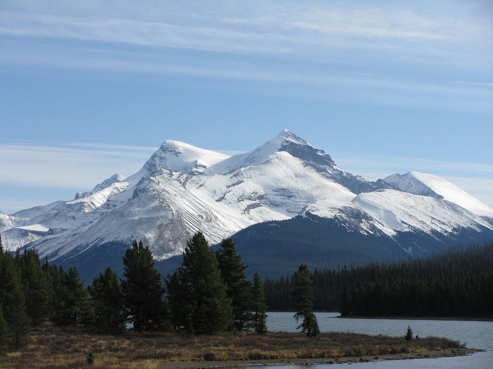 Mountain, Lake, Forest, Landscape