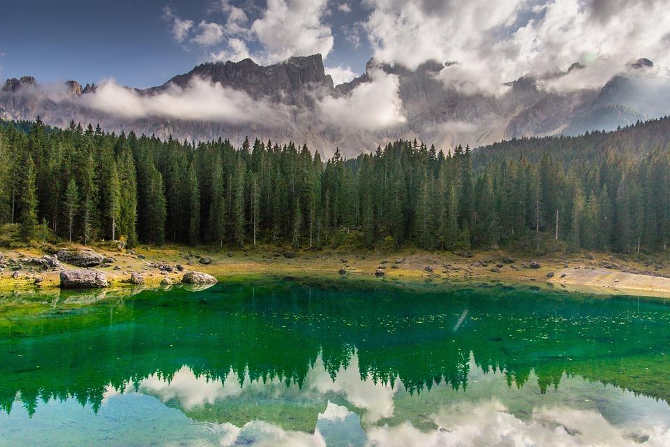 South Tyrol, Caress, Lake, Forest, Latemar, Dolomites