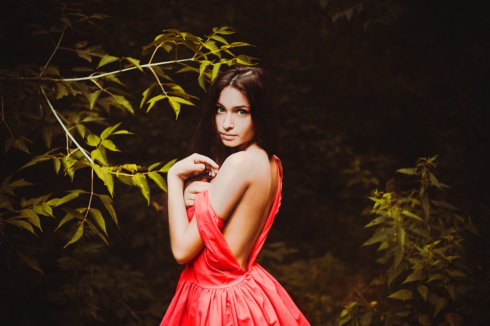 Girl, Lopushok, Naked, In The Forest, Wild, Forest