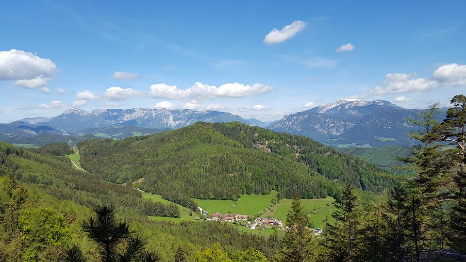 Mountains, Forest, Nature, Landscape, Sky, Vision