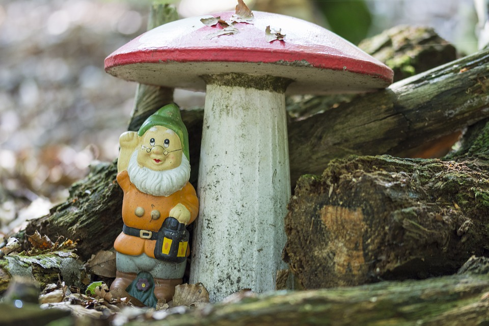 Gnome, Mushroom, Forest, Woodgnome, Red Fly Agaric