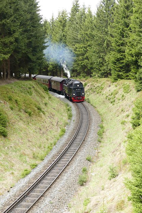 Harzquerbahn, Railway, Narrow Gauge, Forest, Nature