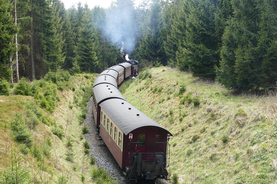 Harzquerbahn, Railway, Narrow Gauge, Forest, Nature