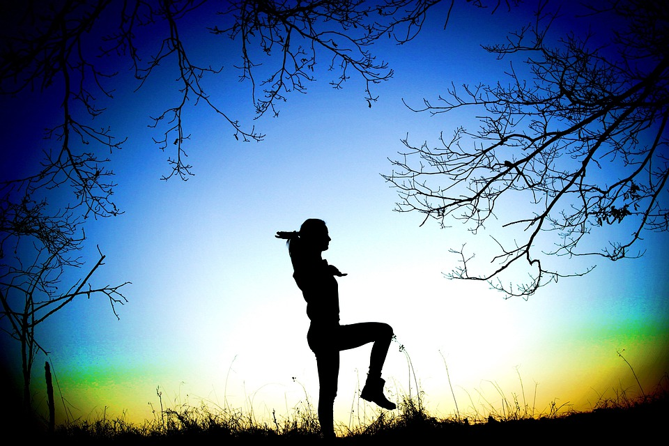 Girl, Exercise, Equality, Peace, Nature, Forest