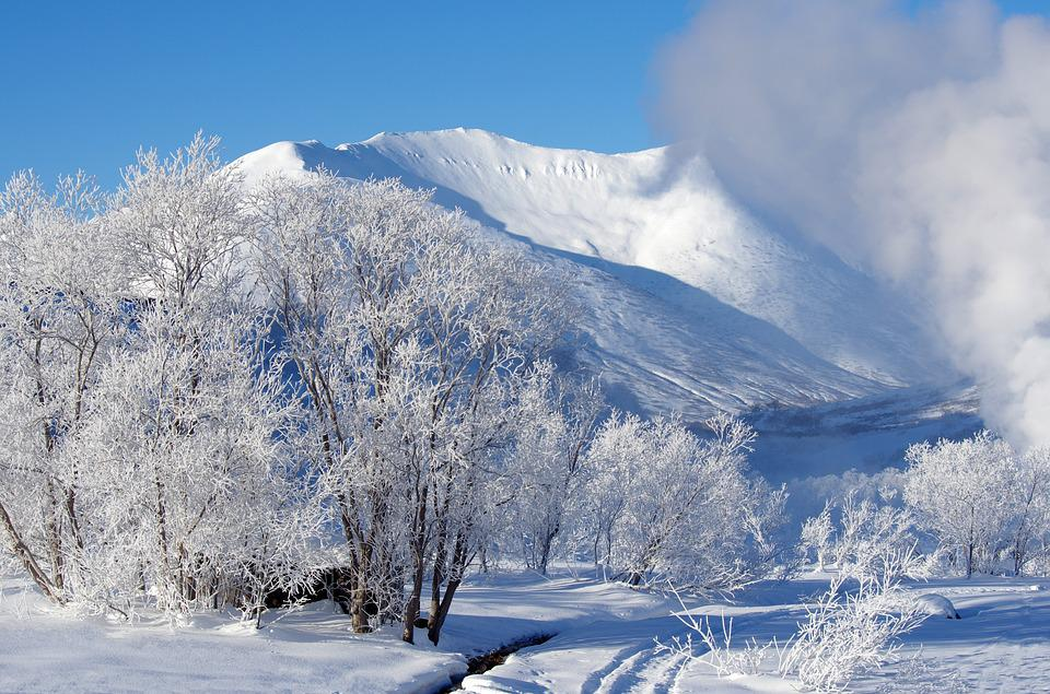 Mountains, Forest, Winter, Frost, Leann, Nature, Rocks