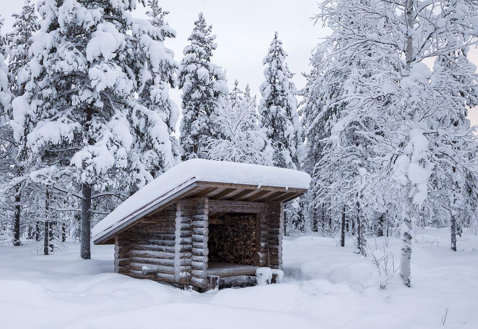 Shelter, Winter, Forest, Snow, Lapland, Finland