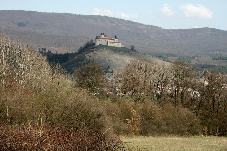 Castle, Meadow, Forest, Village, Slovakia, Tree
