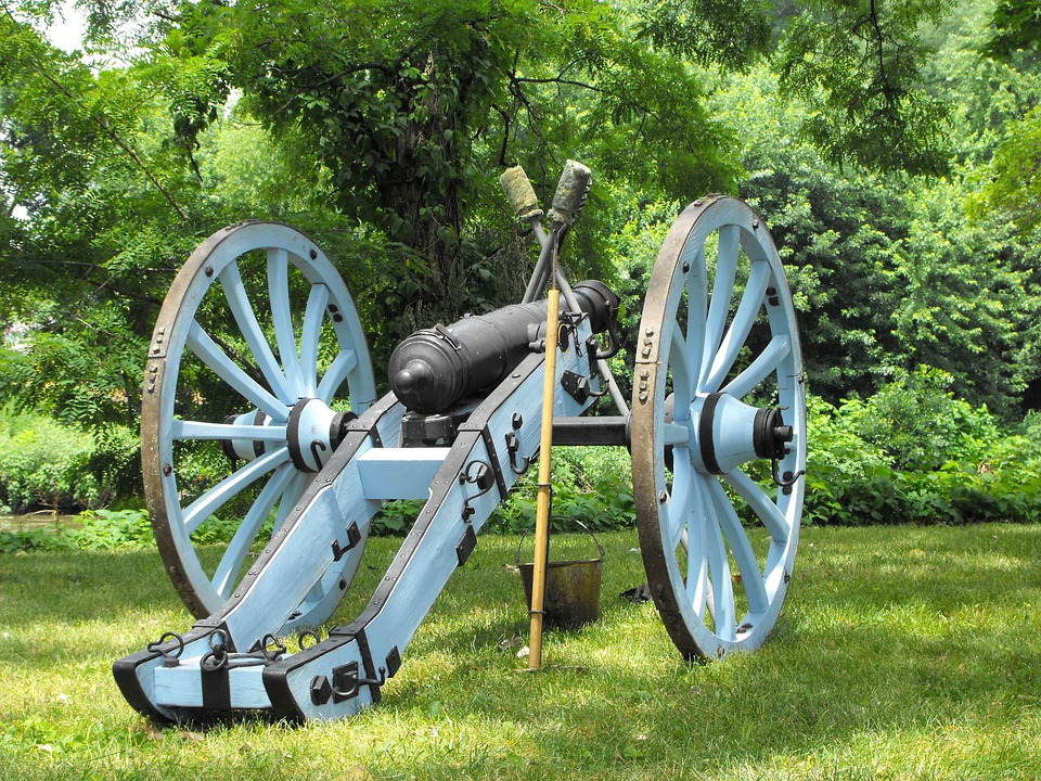 Cannon, Gun, War, Mounted, Vintage, Artillery, Forest