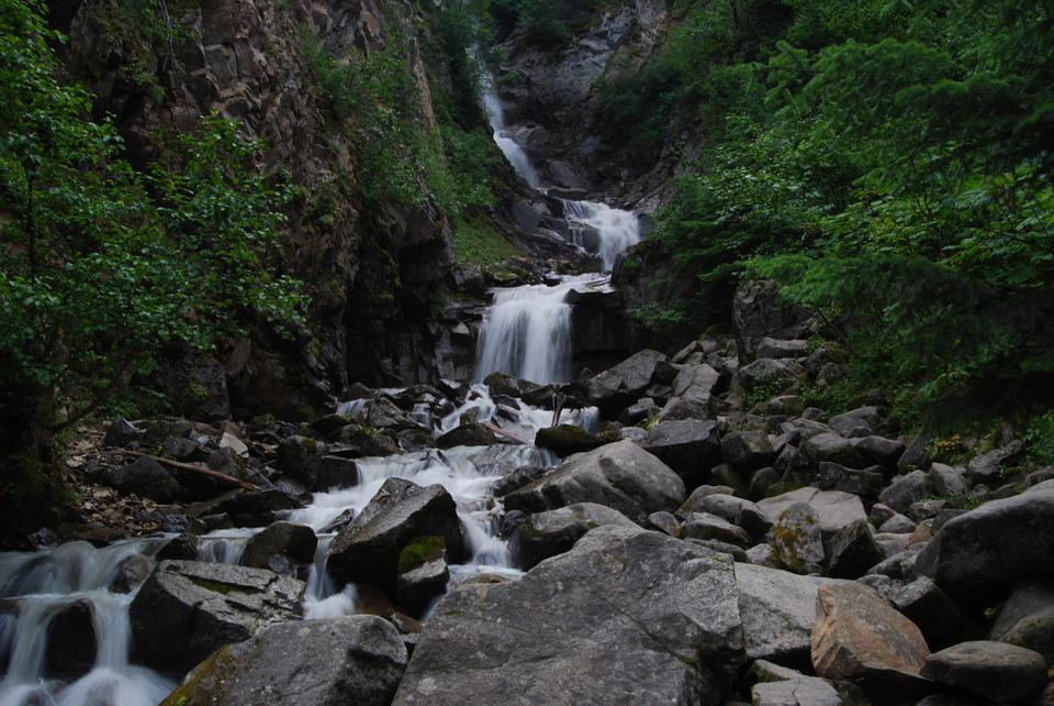 Alaska, Skagway, Travel, Forest, Waterfall, Wilderness