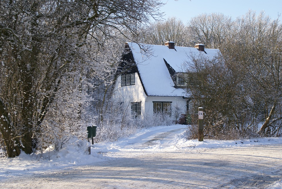 Winter, Snow, Dune, Forester, House