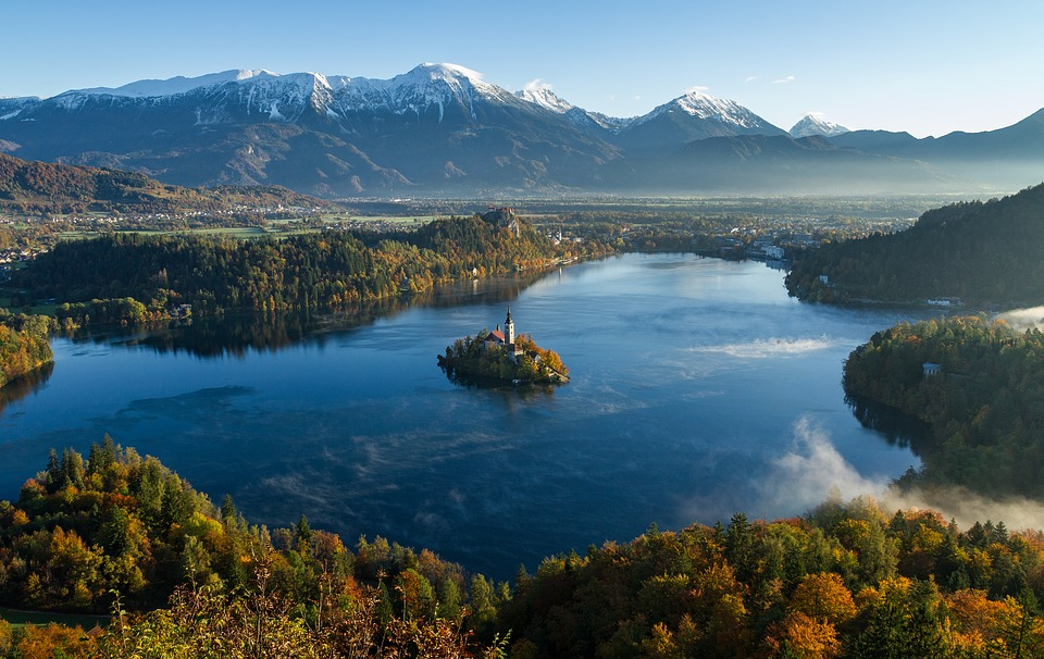 Lake, Mountains, Trees, Forests, Woods, Woodlands