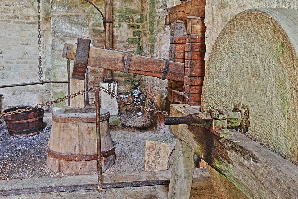 Hammer Mill, Forge, Grinding Stone, Antique, Hdr