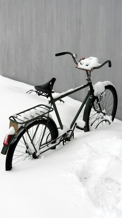 Winter, Bicycle, Snow, Solo, Forgotten, Cover