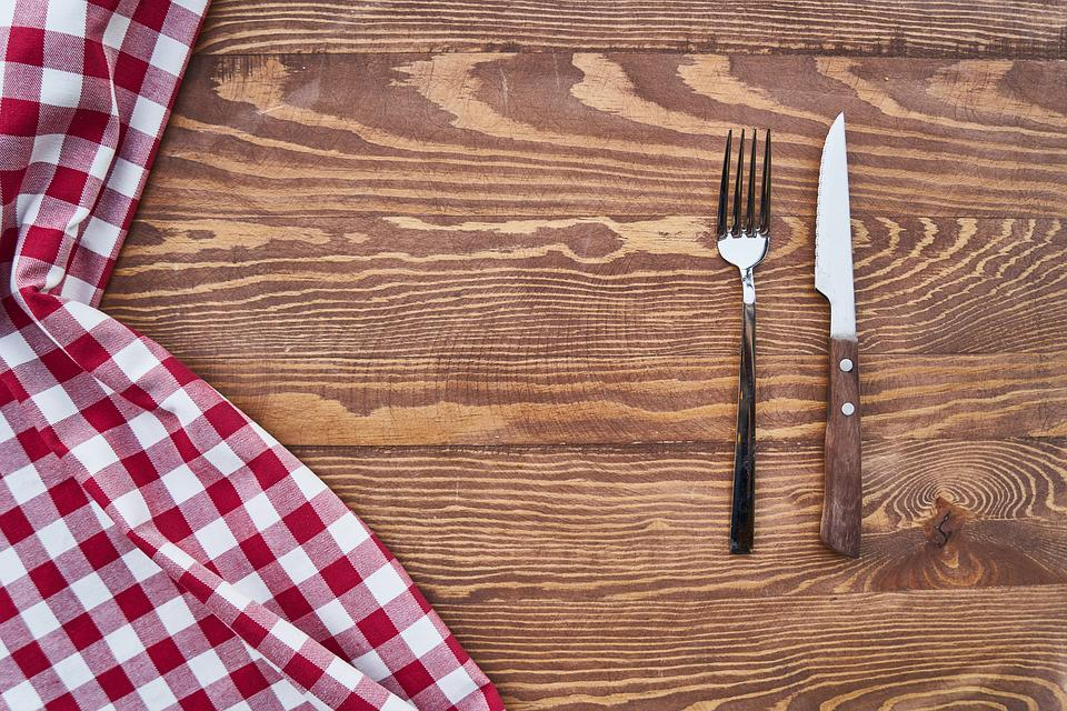 Free Photo Fork Cover Table Detail Knife Wood Background