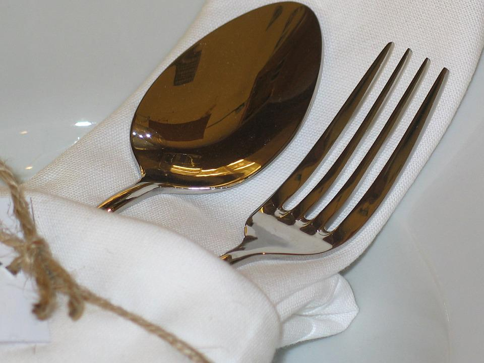 Cutlery, Cover, Table, Fork, Eat, Board