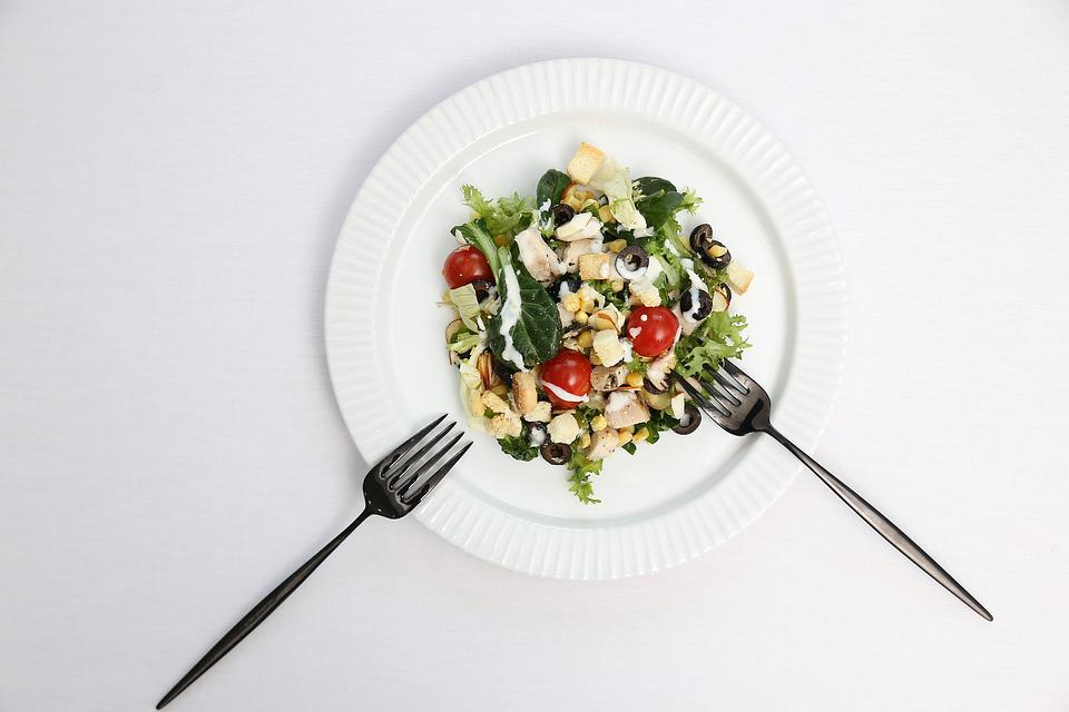 Salad, Food, Dining, Vegetable, Vegetables, Fork
