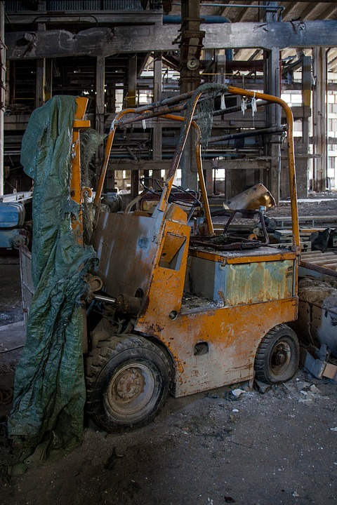Old Forklift, Abandoned, Old, Lift, Forklift, Vehicle