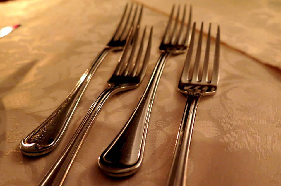 Forks, Cutlery, Kitchen Cutlery, Silver