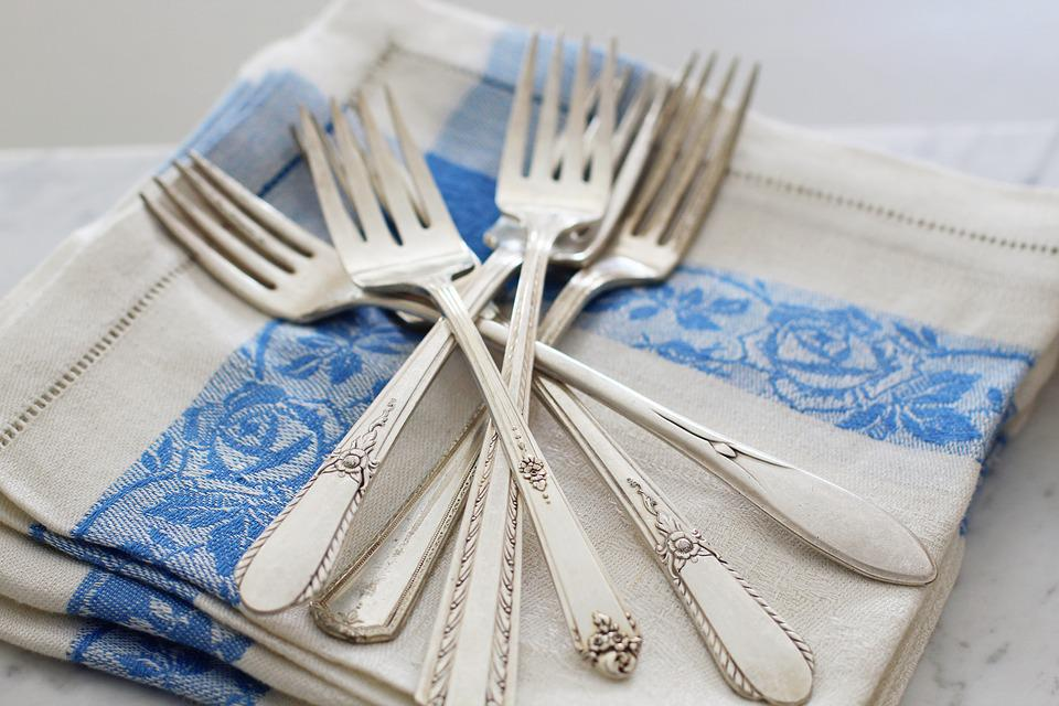 Utensils, Silverware, Forks, Vintage Silverware