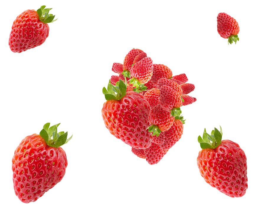 Heart, Form, Strawberry, Background, Strawberries