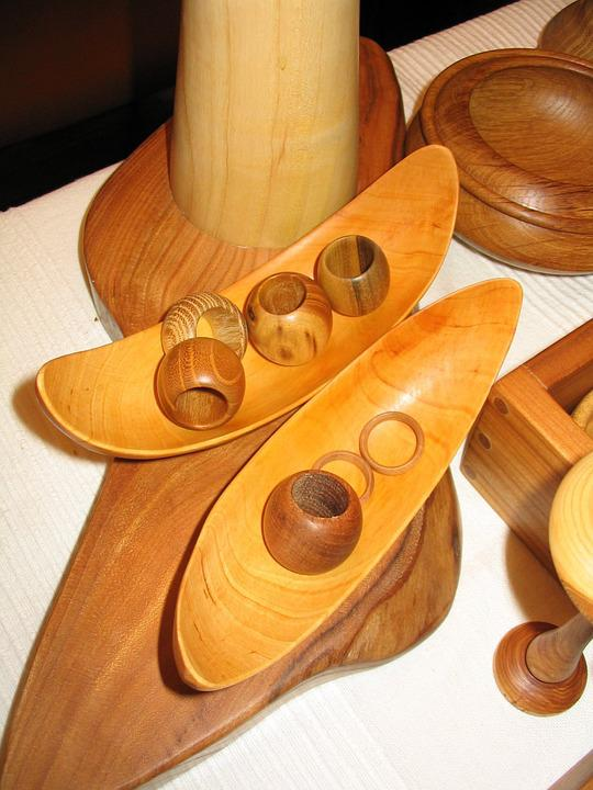 Arts Crafts, Turned, Wood, Form, Wooden Bowls