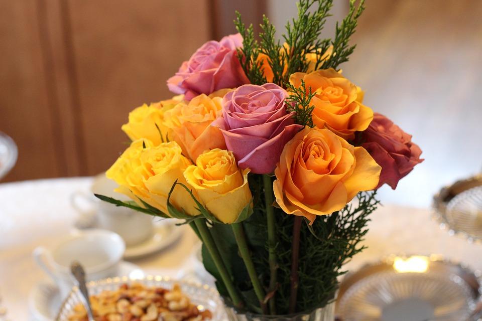 Flower Arrangement, Table Setting, Formal